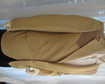 Vintage Gold and White Tweed Wool Western Style Sport Jacket with Cotton Suede Detail, Lew Magram, ca 1960s