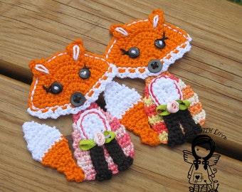 Crochet PATTERN, Applique Fox, Patch Fox, Application Fox, DIY Pattern 165