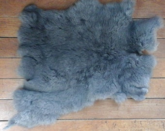 Hand-Cured Rabbit Pelt - Gray/Blue (Free Shipping!)