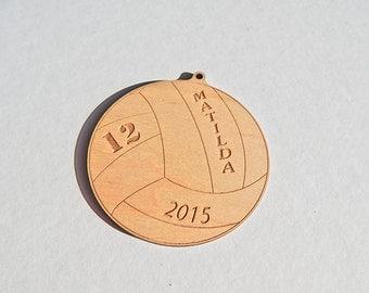 Custom Volleyball Ornament
