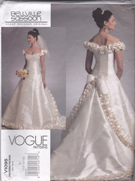 V1095 Vogue Wedding Dress Sewing Pattern by JLGsSewingPatterns