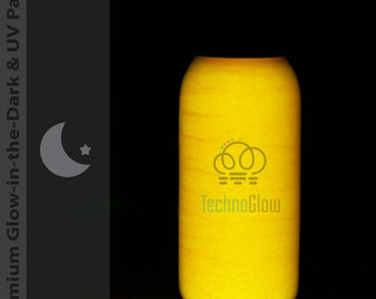 Orange to Gold Glow in the Dark & UV Paint