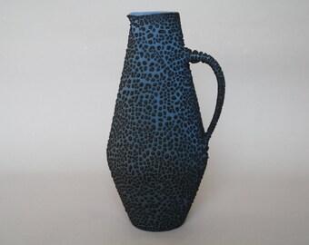 Dark glazed Albert Kiessling studio vase with a 'Snakeskin' glaze