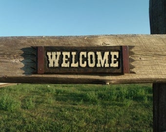 WELOME Sign Rustic WELCOME sign Western WELCOME sign