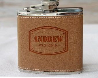 Personalized Groomsmen Gifts, 7 Mens Gifts, Custom Flask, Monogram Flask, Best Man Gift, Groomsman Gift, Father of the Groom Gift, Groomsmen