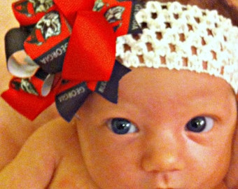 Georgia Bulldogs Bow Headband