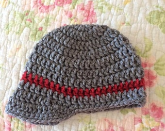 Stripped Newsboy Beanie