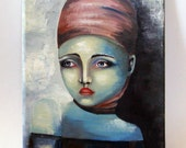 """Original oil painting on  Canvas, Original Painting """"The woman"""""""
