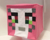 Pink Stampylongnose Halloween Costume Plush Mine mining pixel Craft Character head Mask