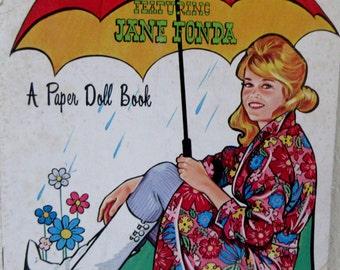 Vintage 1960s  Saalfield MOD FASHIONS Featuring Jane Fonda Paper Dolls UNCUT **Epsteam