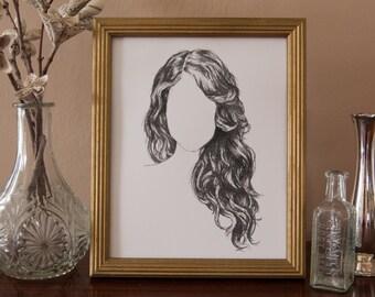 Hair Style_1 : Art Print