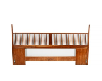 Cherry Head Board  King Size Headboard Mid Century Modern