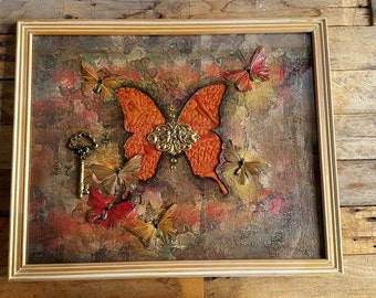 Butterfly altered art