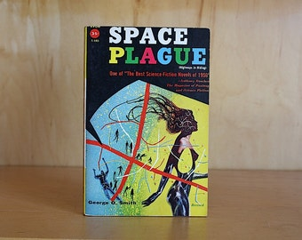 Science Fiction Book - Vintage Sci Fi - Outer Space - 1950s Sci Fi Decor - Sci Fi Gift - George O. Smith - Space Plague