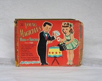 Vintage Magic Tricks - Magic Kit for Kids - Magician Tricks - Magic Trick Kit - Magic Set Toy - Young Magician's Box of Tricks - Saalfield