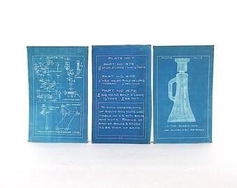 Vintage Blueprints - Technical Drawings - Blueprint Art - Industrial Art - Industrial Decor - Industrial Prints - Mechanical Drawings