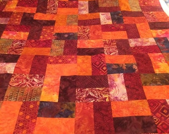 Hot Tamale All Batiks Quilt Top 48x66