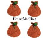 UNCUT Pumpkin Squash felt applique embellishment felties (4)