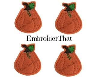 UNCUT Pumpkin Squash felt applique embellishment felties (4)