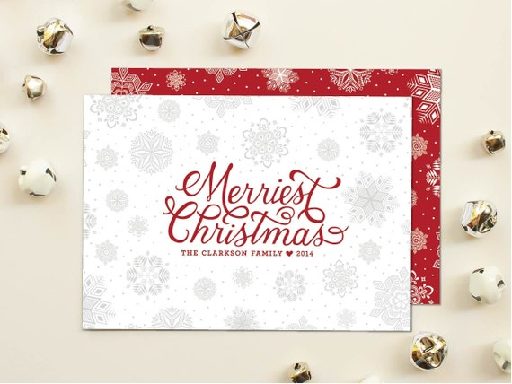 Personalized Christmas Cards, Christmas Greeting Cards, Xmas Card, Winter Holiday Cards - non photo