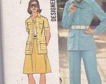 Simplicity 5588 Vintage Pattern Womens  Jacket, Pants and Skirt Size 14