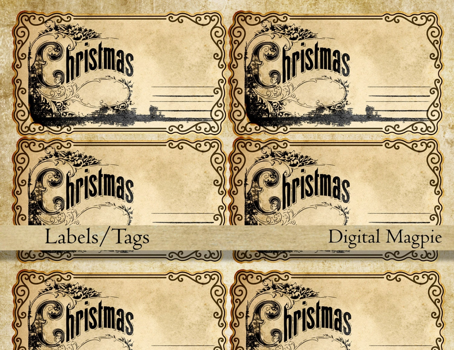 It is an image of Critical Vintage Christmas Labels to Print