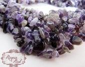 Natural Amethyst Chips,  purple gemstone chip, amethyst beads, February gemstone - reynaredsupplies
