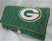 Green Bay Packers Travel Changing Pad Clutch Makes a Great Baby Shower Gift