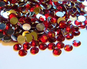 DARK RED 1000 Choose Size 2mm or 3mm or 4mm or 5mm Flatback Resin Rhinestones or 200 6mm ss6/12/16/20/30 Diy Deco Bling Kit Embellishments