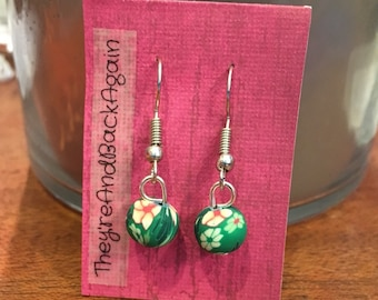GreenFlower Clay Bead Earrings