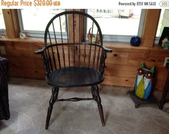On Sale Windsor Arm Chair by Hale Co American Sack Back Chair Antique Wood Chair