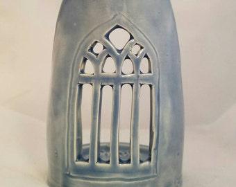 Gothic window candle holder