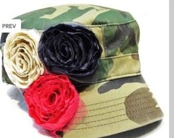 Women's Camo Cadet Flower Hat