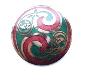 Vintage Signed Goldtone Seagems Brooch/Pin