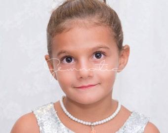 Flower Girl Gift, Personalized Flower Girl Bracelet and Necklace Set, Flower Girl Jewellery, Flower Girl Jewelry, Kids Stocking Stuffer