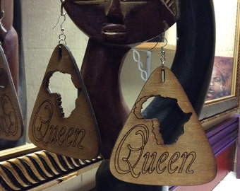 Big and Wide Queen Earrings