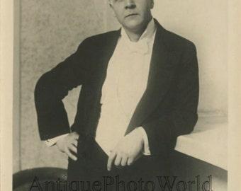 Russian opera star Fyodor Shalyapin vintage rppc photo