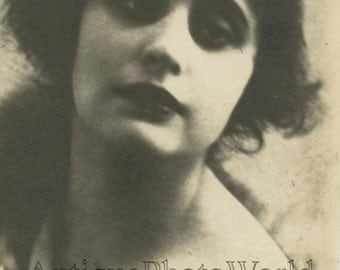 Beautiful Vera Holodnaya Russian silent film star actress antique photo pc