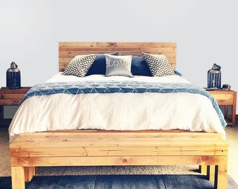 The Northwoods Bed - Rustic Knotty Pine - Made In Chicago, USA - Ships Everywhere
