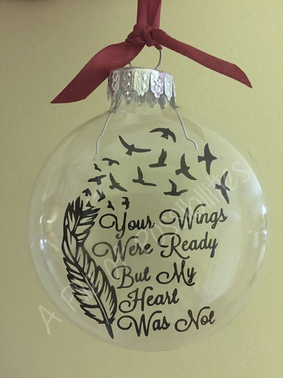 Your Wings Floating Memorial Ornament.
