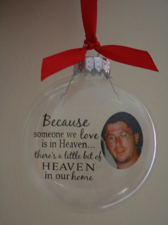 Photo Memorial Christmas Ornaments