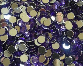 4mm OR 5mm medium purple rhinestones - U.S. SELLER, bling, flatback