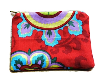 Reusable Snack Bag Red Yellow Blue Green Cosmetic Bag
