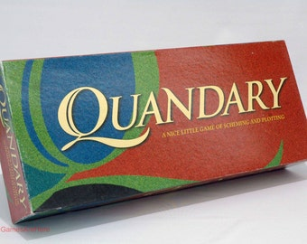 Quandary Strategy Game from Milton Bradley 1994 COMPLETE (read description)