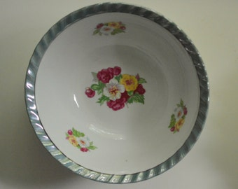 Vintage Lusterware Bowl Roses