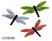 Set/3 ~ Bullseye COE 90 Precut Glass Fusible Dragonflies Fusing Supplies