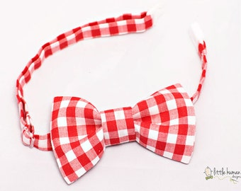 Red Gingham Bow Tie Boys - Red/White Bow Ties for Boys, Little Boy Bow Tie, Gingham Bow Tie Baby, Boys Bowties, Toddler Bow Tie, Kids Bowtie