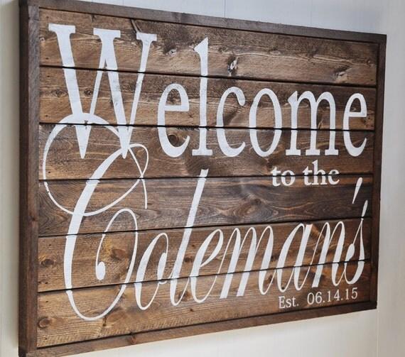 Welcome Sign Last Name Sign Family Established Sign