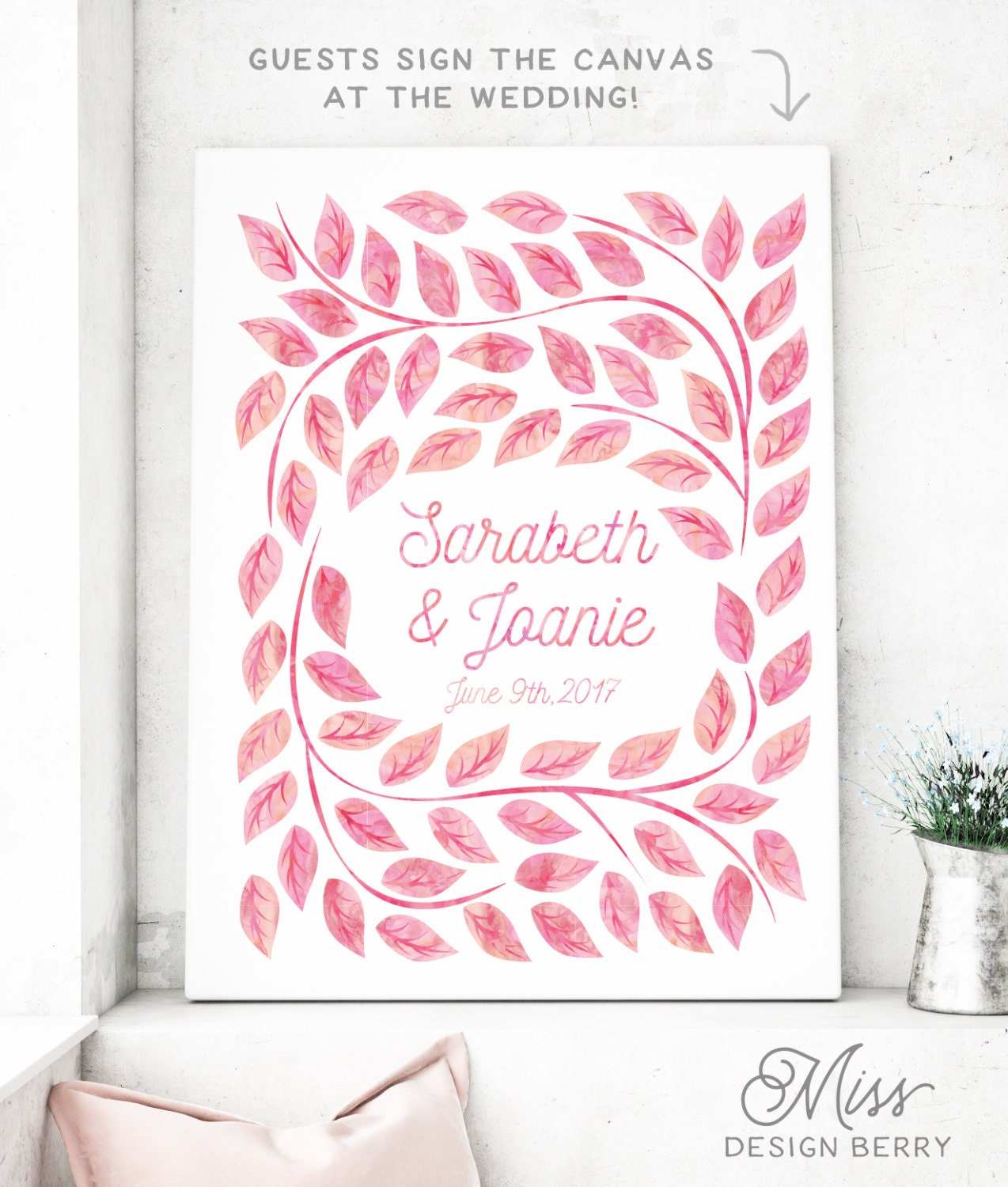 Wedding Guest Signing Tree: Wedding Guest Book Alternative Tree Guest Sign In Book