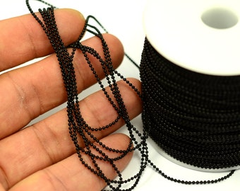 16.5 ft. 5 Meter Black Color 1.2 mm Ball Chain